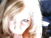 Mobbelige Blondine beim ersten Porno